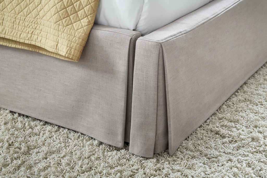 Modus Full Upholsterd Skirted Storage Panel Bed Wheat Modus
