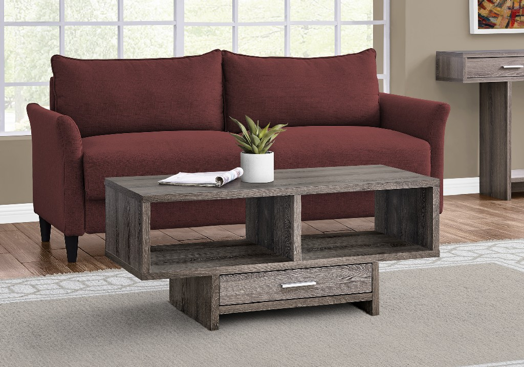 Monarch 3 Piece Coffee Table Set in Dark Taupe