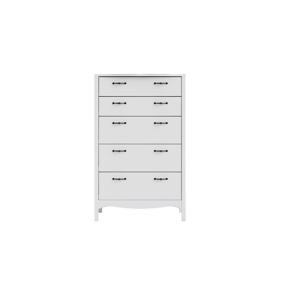 Biscayne 5 Drawer Chest in White - Tvilum 707324949