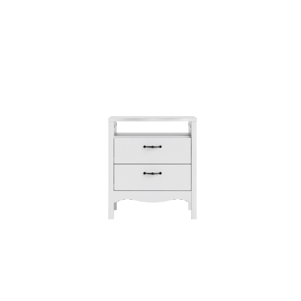 Biscayne 2 Drawer Nightstand in White - Tvilum 707334949