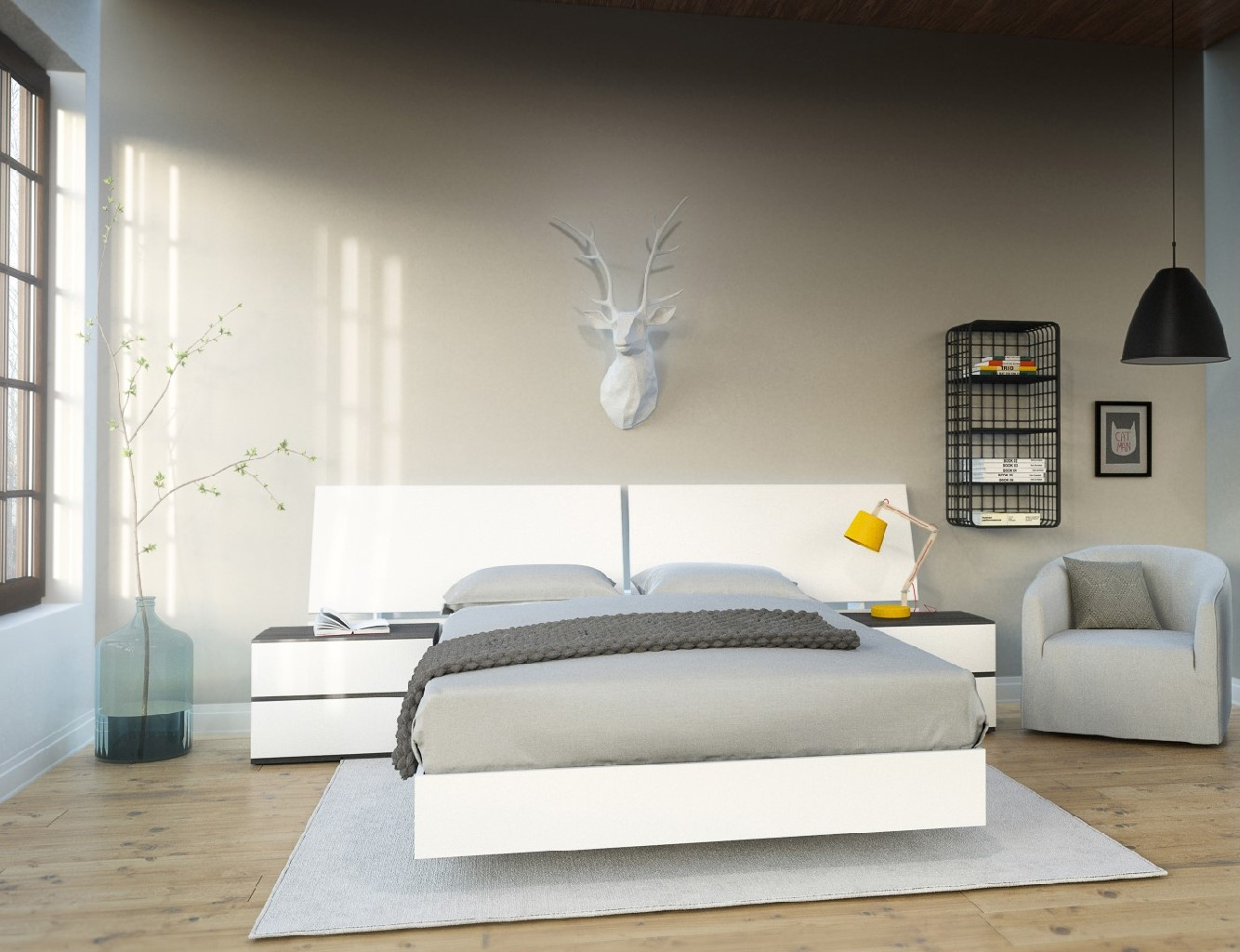 Nexera Bedroom Set Ebony