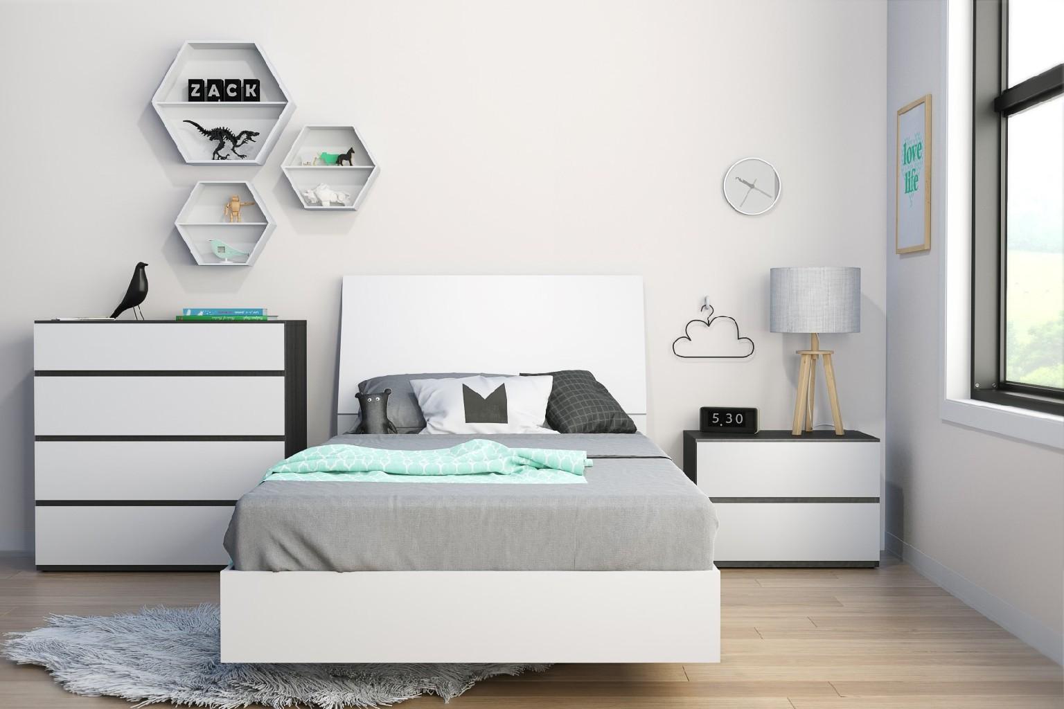 Nexera Twin Bedroom Set Ebony
