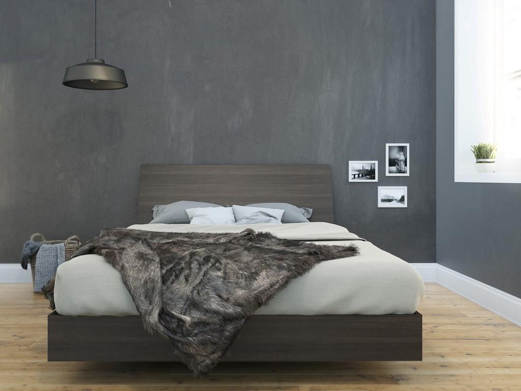 2 Piece Queen Size Bedroom Set In Ebony - Nexera 400760