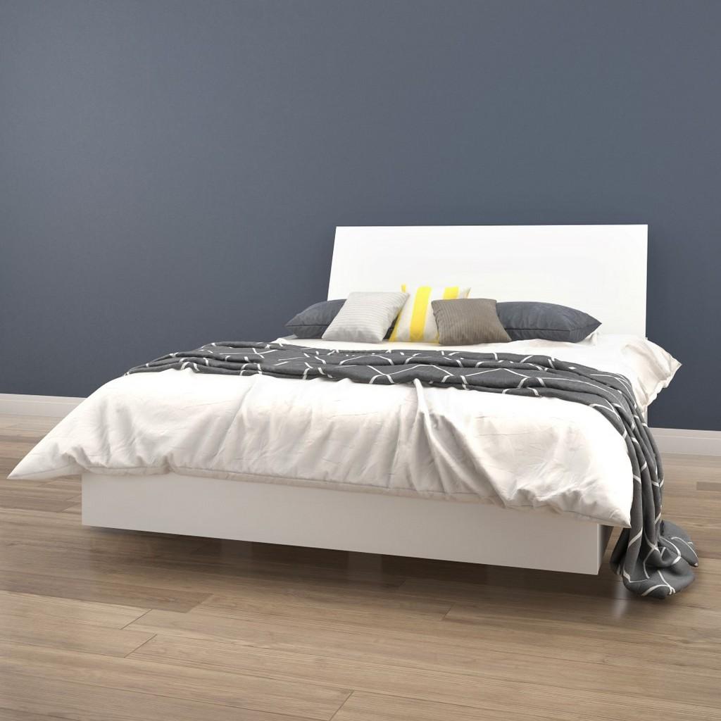2 Piece Full Size Bedroom Set In White - Nexera 400783