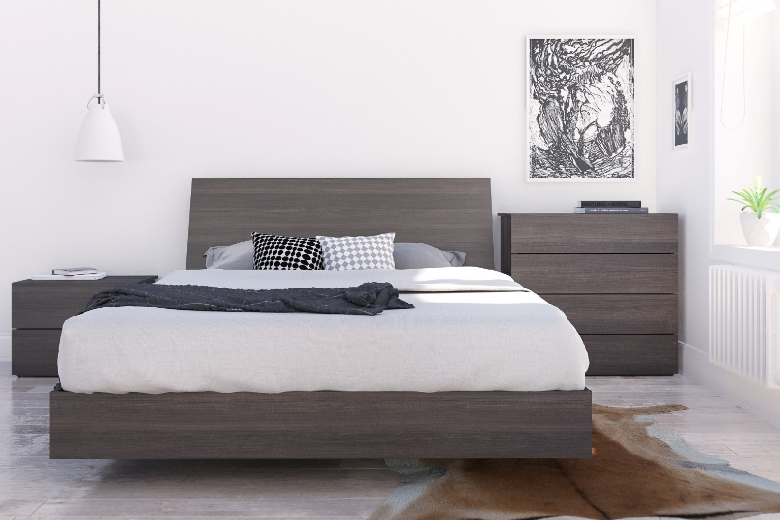 Nexera Jet Set Queen Bedroom Set Ebony