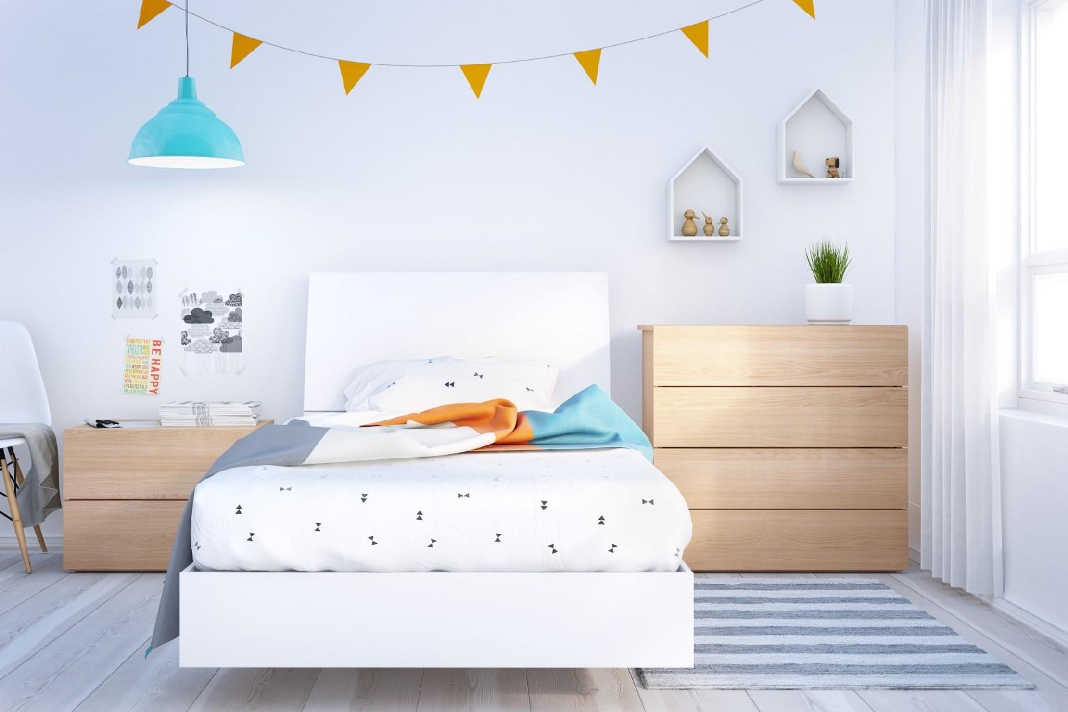 Nexera Twin Bedroom Set Maple White