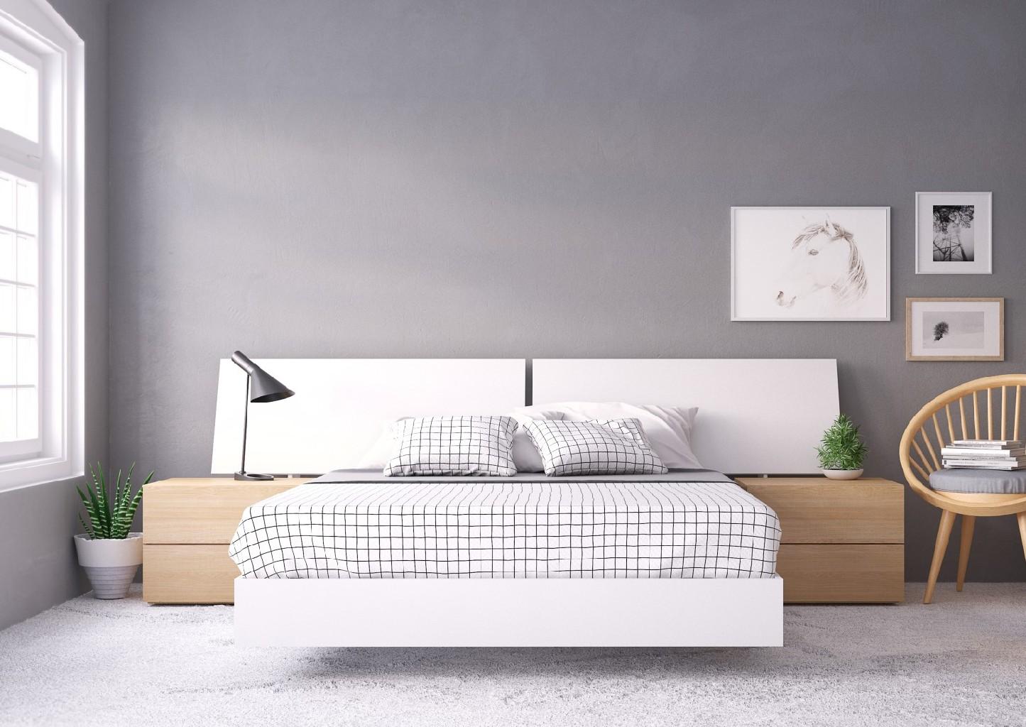 Nexera Queen Bedroom Set Maple White