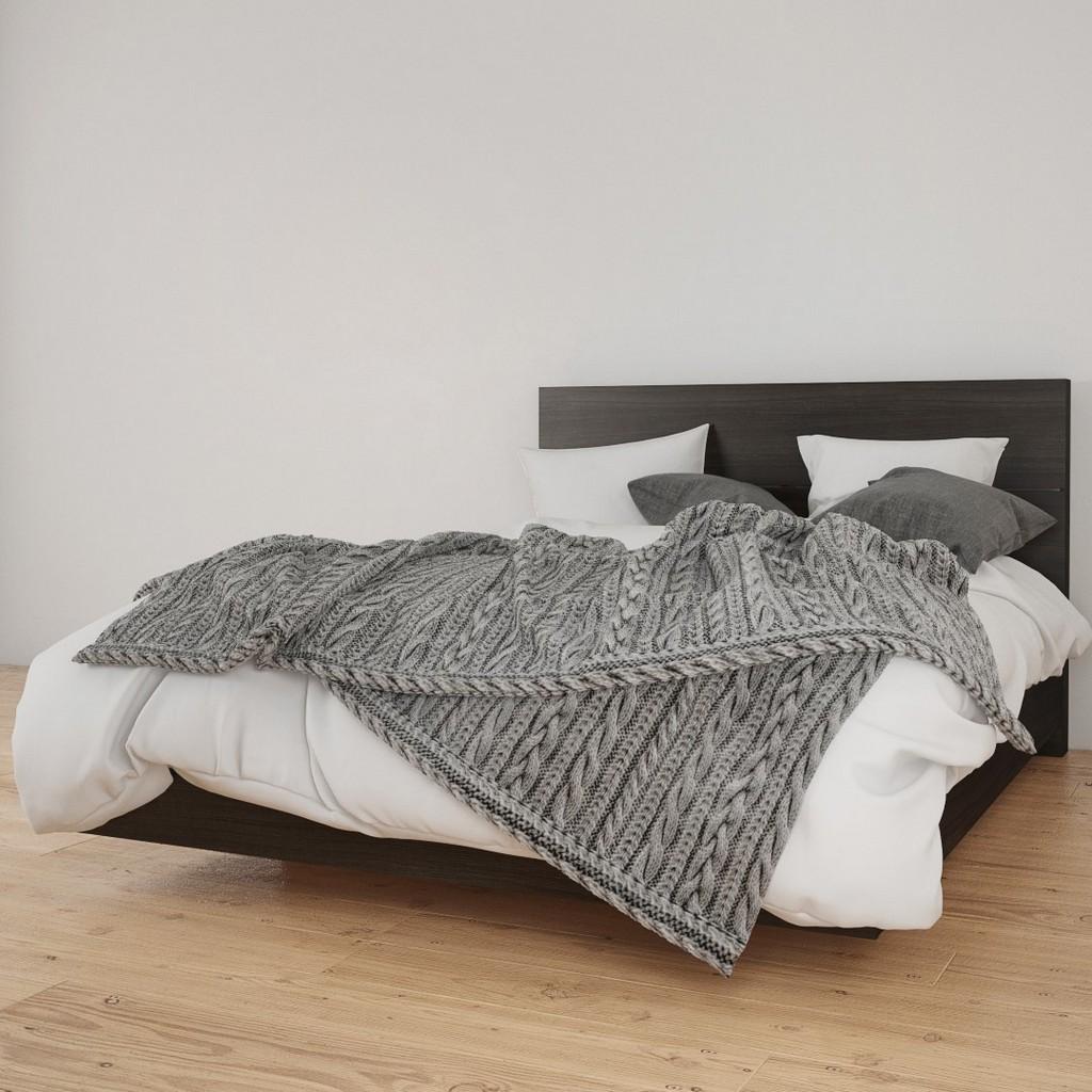 2 Piece Queen Size Bedroom Set In Ebony - Nexera 400906