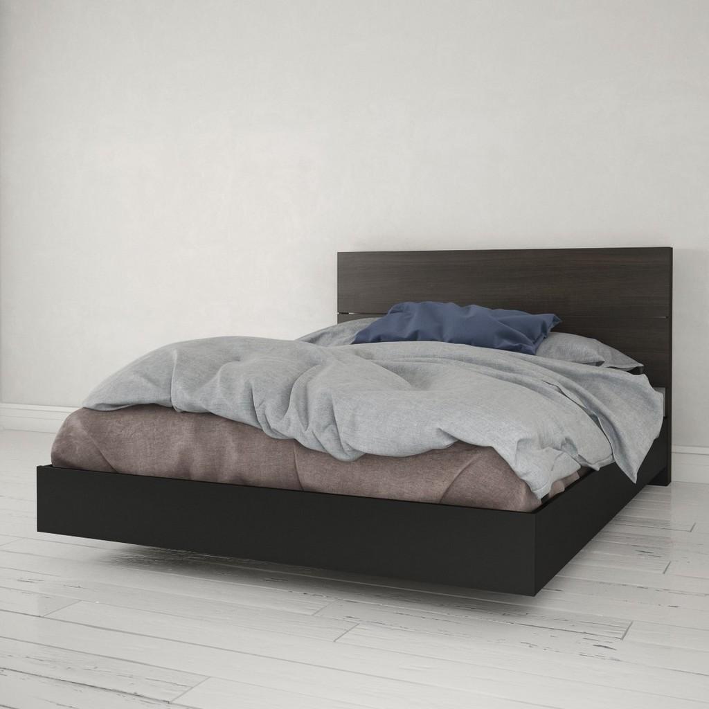 2 Piece Queen Size Bedroom Set In Black and Ebony - Nexera 400915