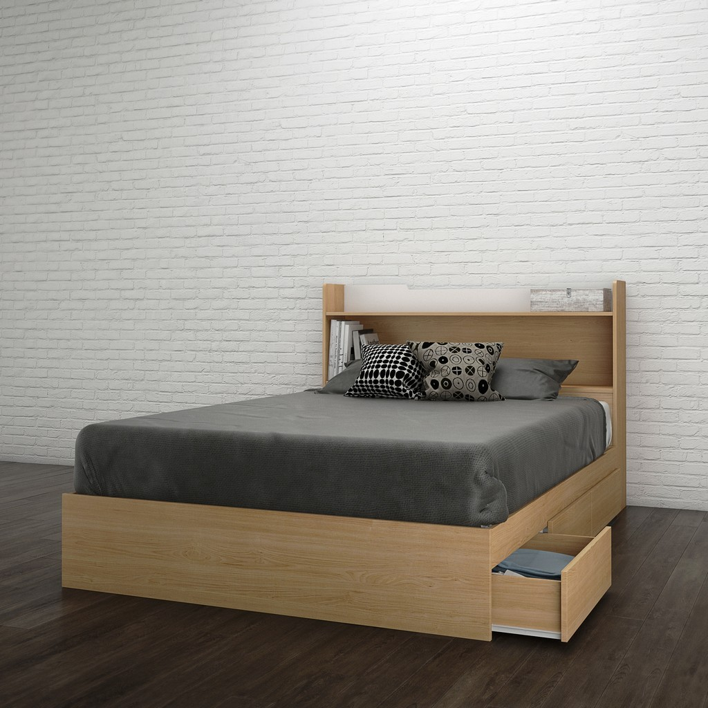 2 Piece Full Size Bedroom Set In Natural Maple - Nexera 400943