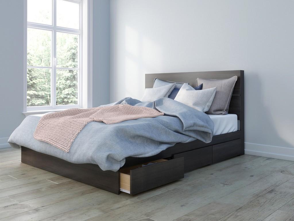 2 Piece Queen Bedroom Set In Ebony - Nexera 402009