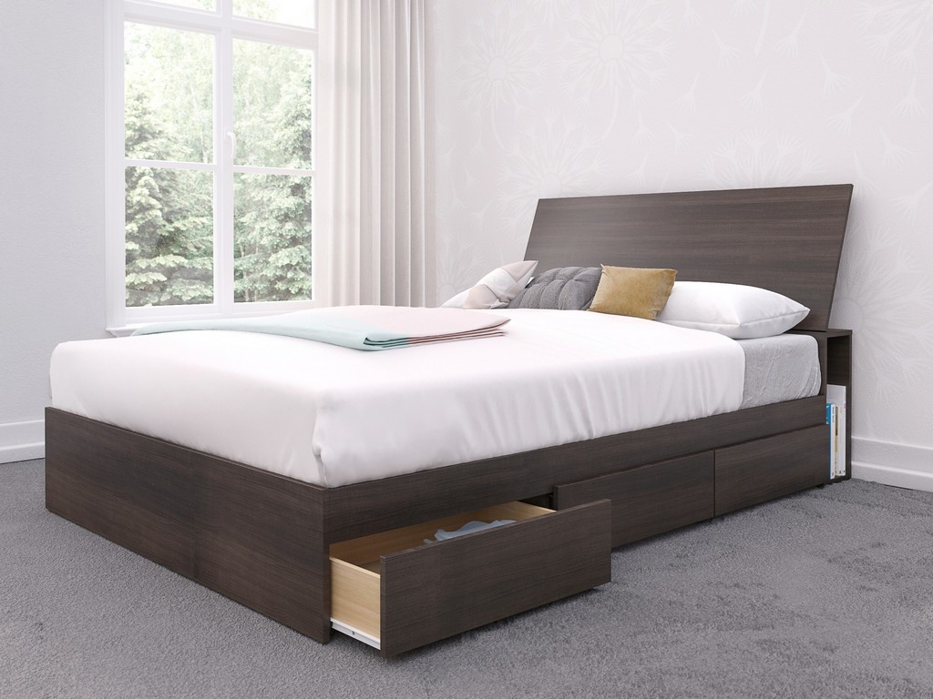 2 Piece Full Size Bedroom Set In Ebony - Nexera 402015
