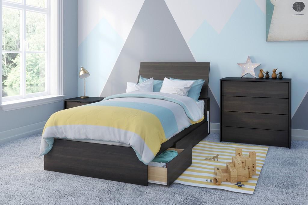 Celeste Twin Bedroom Set Ebony Black