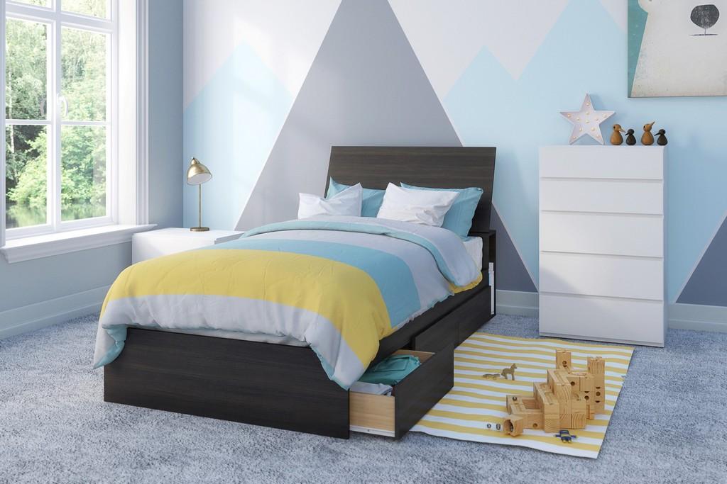 Iris Twin Bedroom Set Ebony White