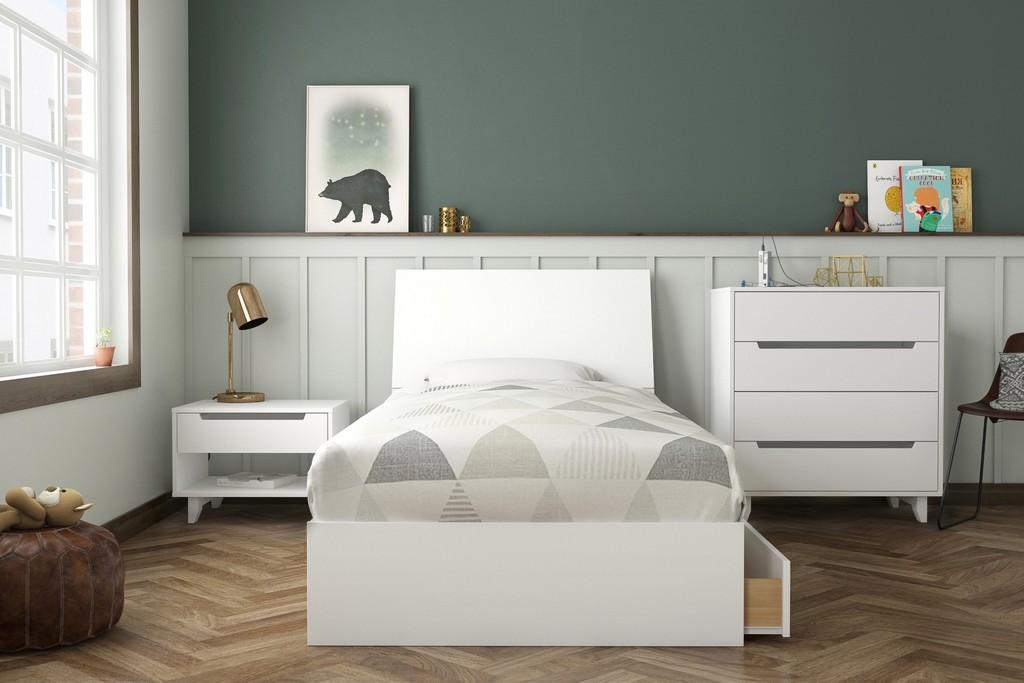 Divine Twin Bedroom Set White