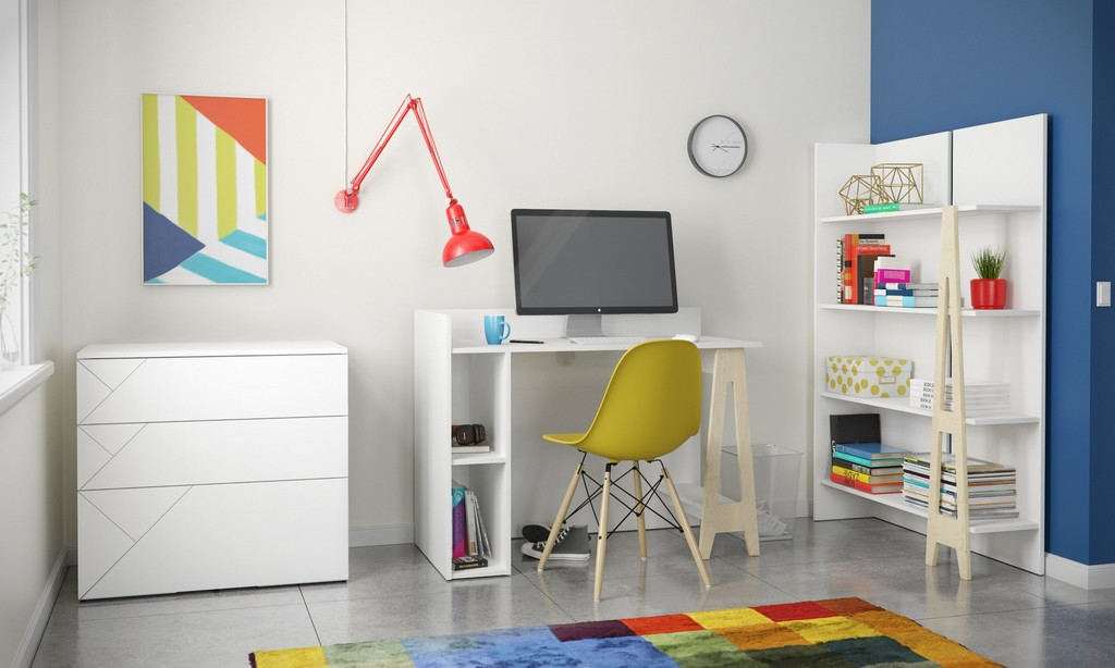 Atypik Office Set White Russian Plywood