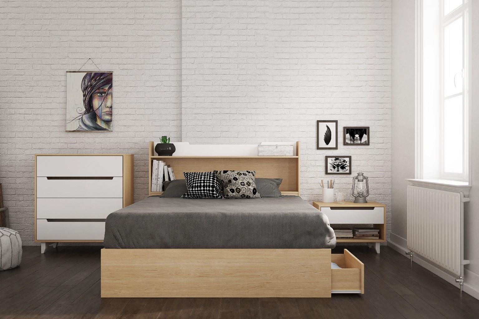Bedroom Set Maple White