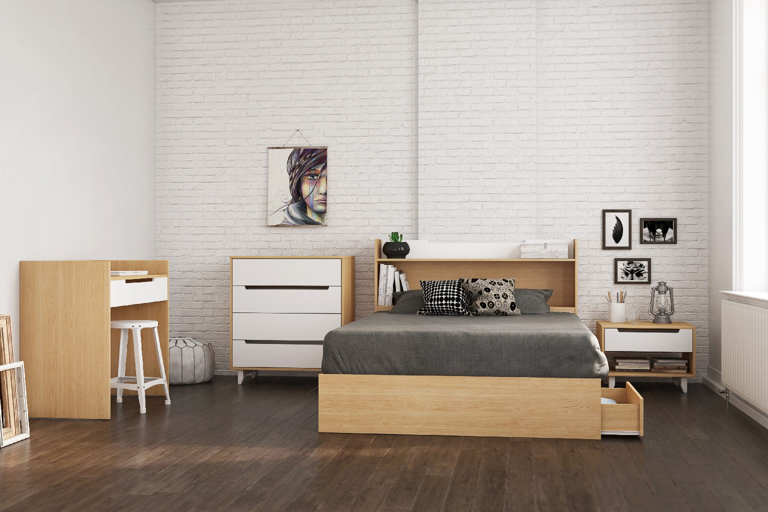 Nexera Bedroom Set Maple