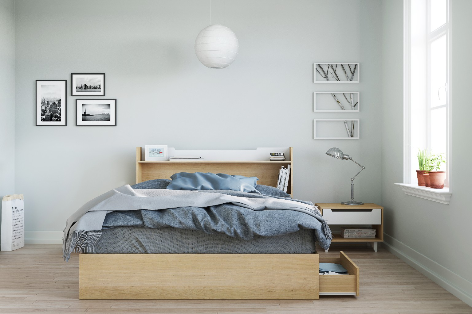 Nexera Furniture Queen Bedroom Set White Photo
