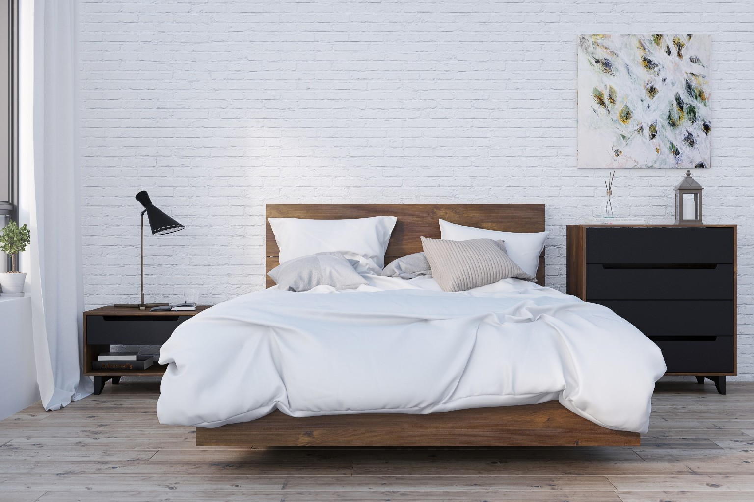Queen Bedroom Set Truffle Black