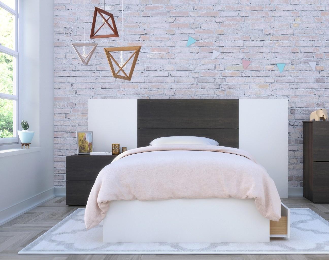 Nexera Twin Bedroom Set White