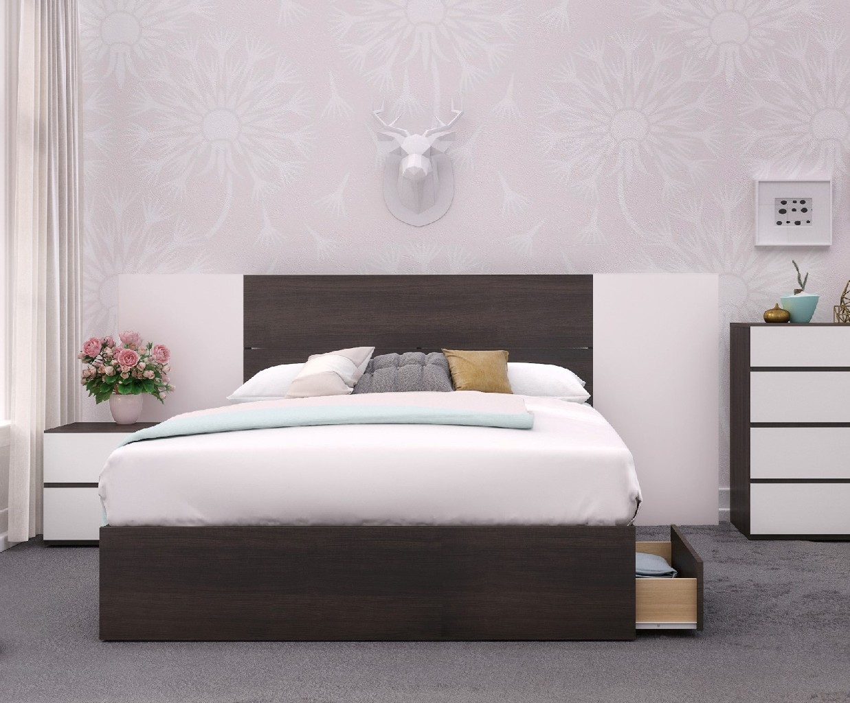 Nexera Bedroom Set White