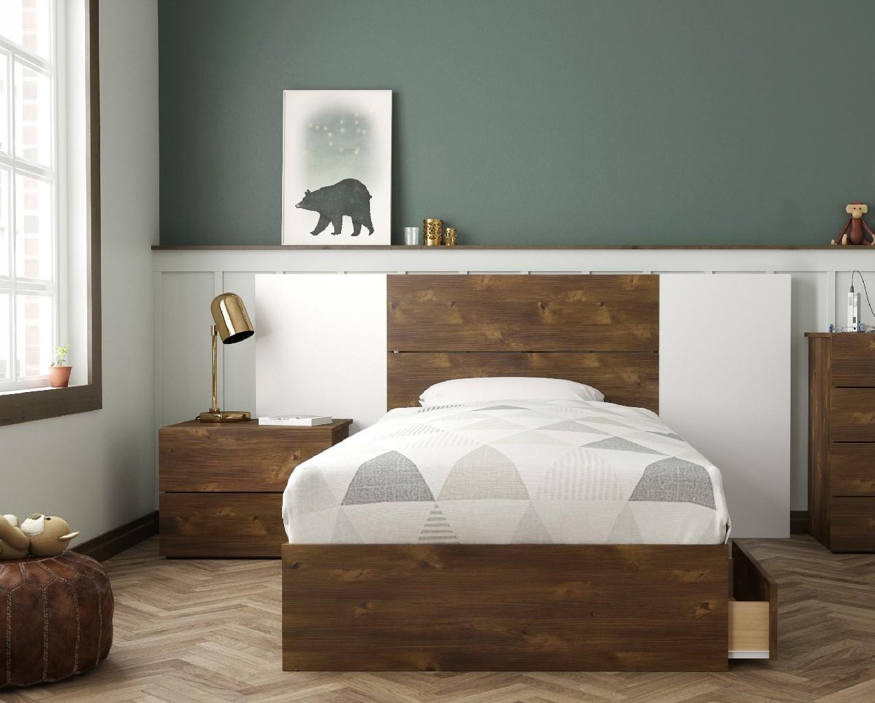 Nexera Twin Bedroom Set Truffle