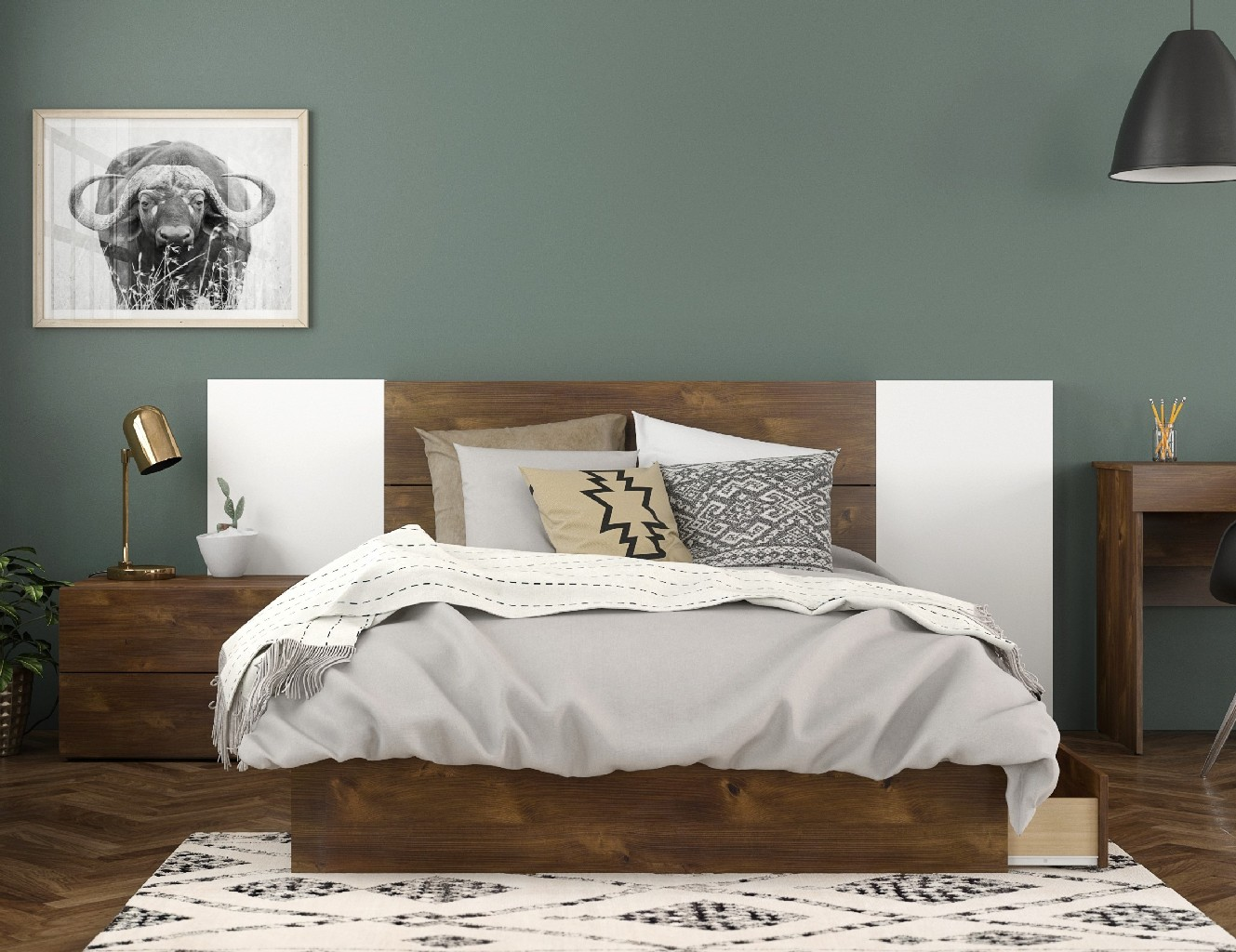 Nexera Bedroom Set Truffle