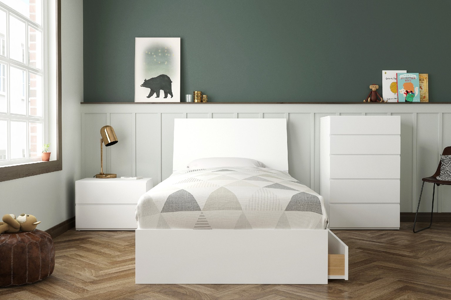 Nexera Twin Bedroom Set White