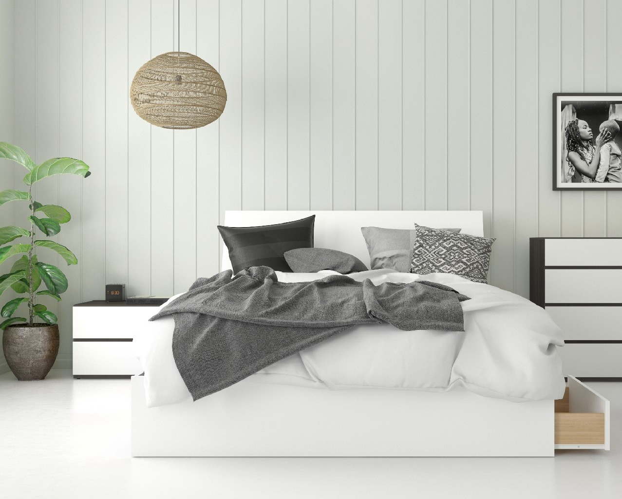 Nexera Queen Bedroom Set White