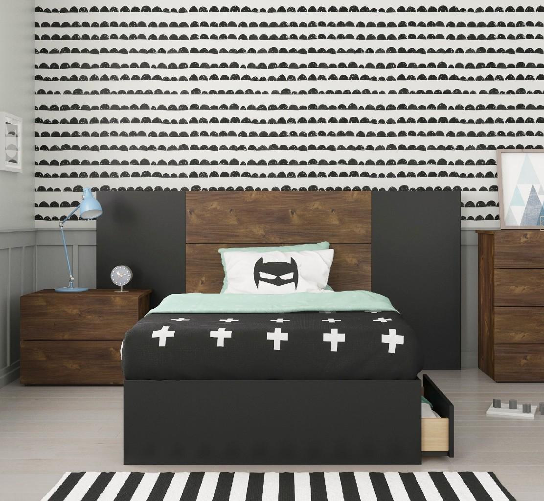 Nexera Twin Bedroom Set Truffle Black