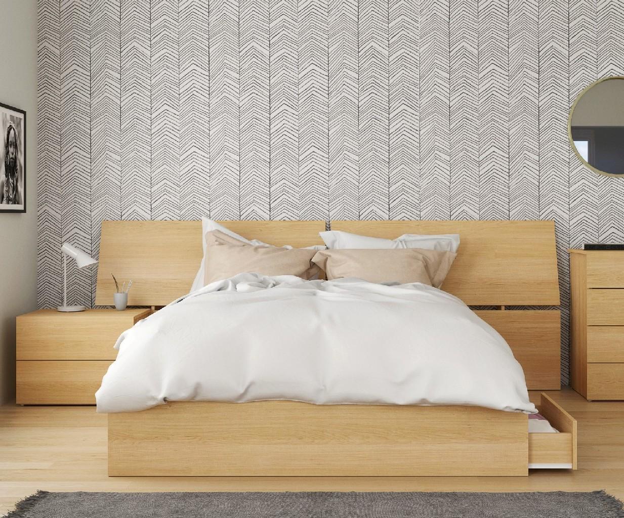 Nexera Queen Bedroom Set Maple