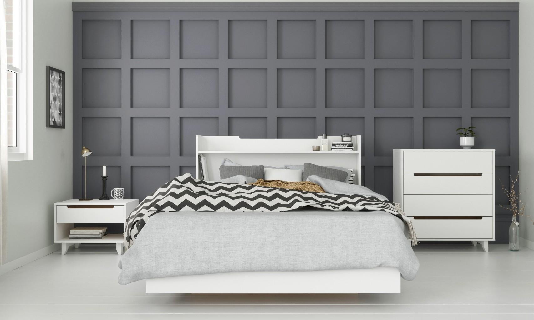 Nexera Snooze Bedroom Set White