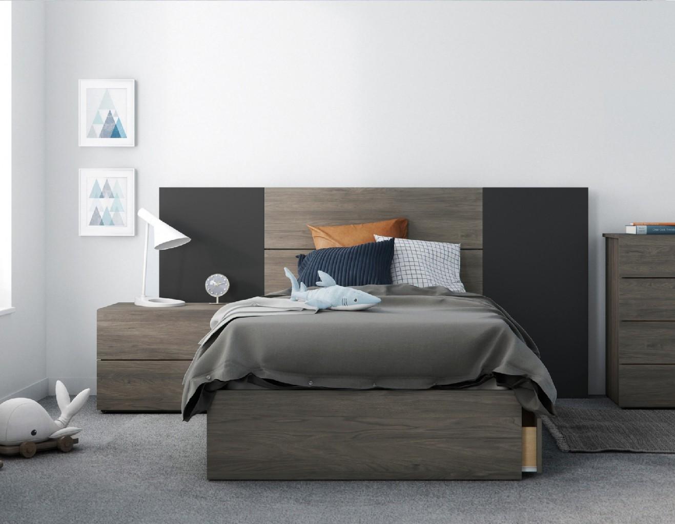 Nexera Twin Bedroom Set Black