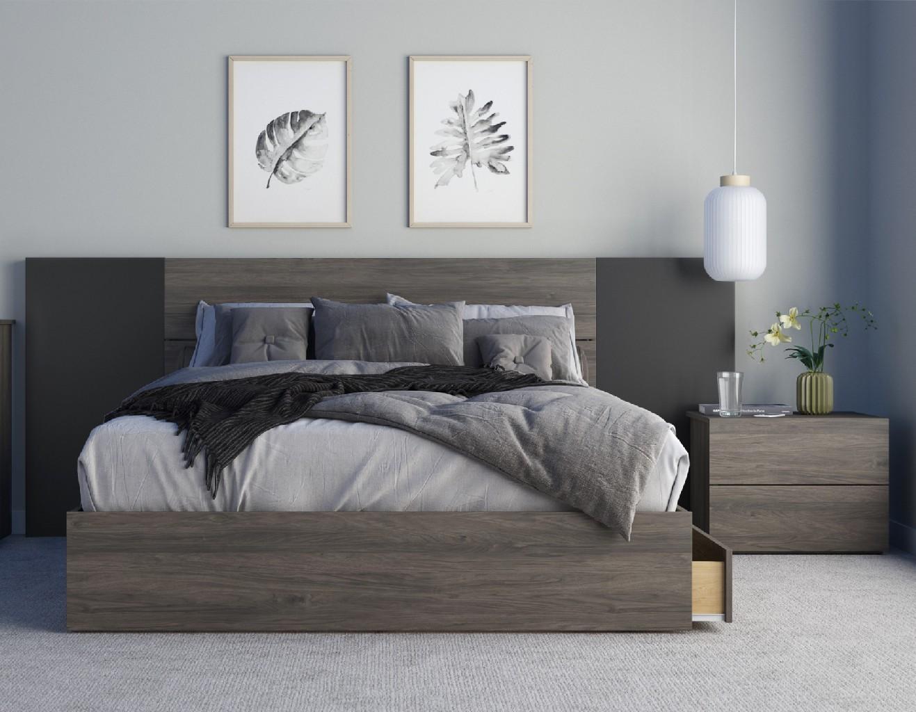 Nexera Queen Bedroom Set Black