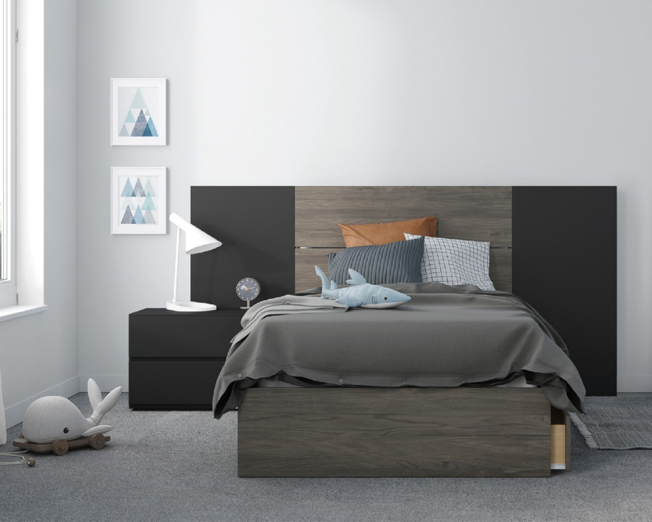 Nexera Twin Bedroom Set Black