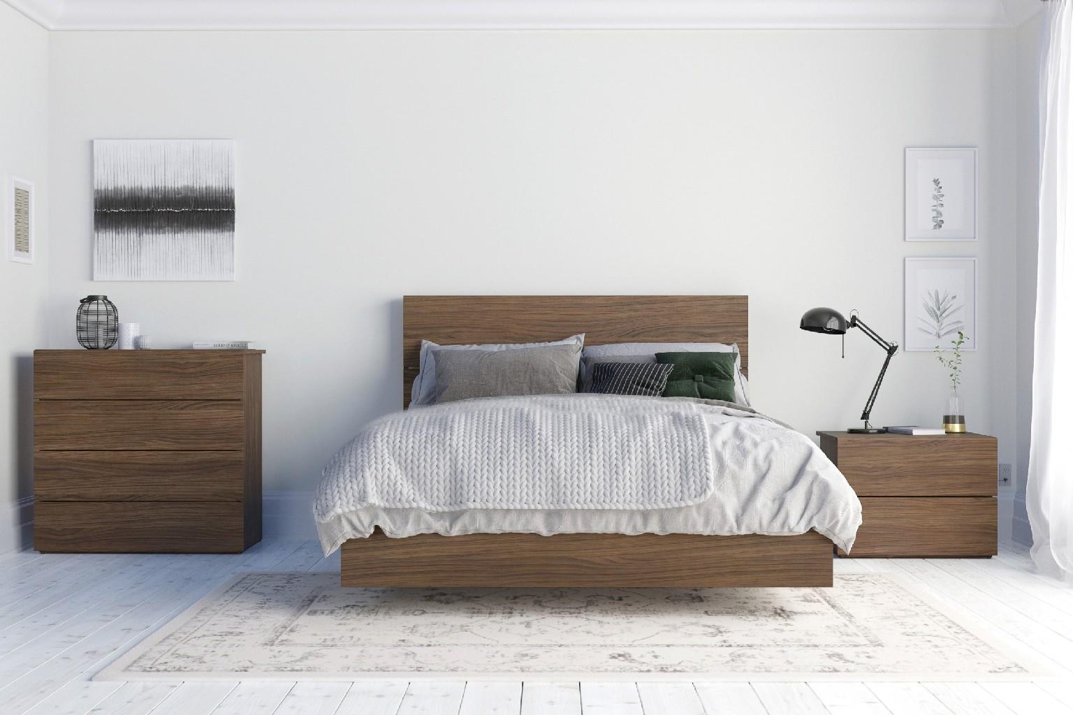 Nexera Bedroom Set Walnut