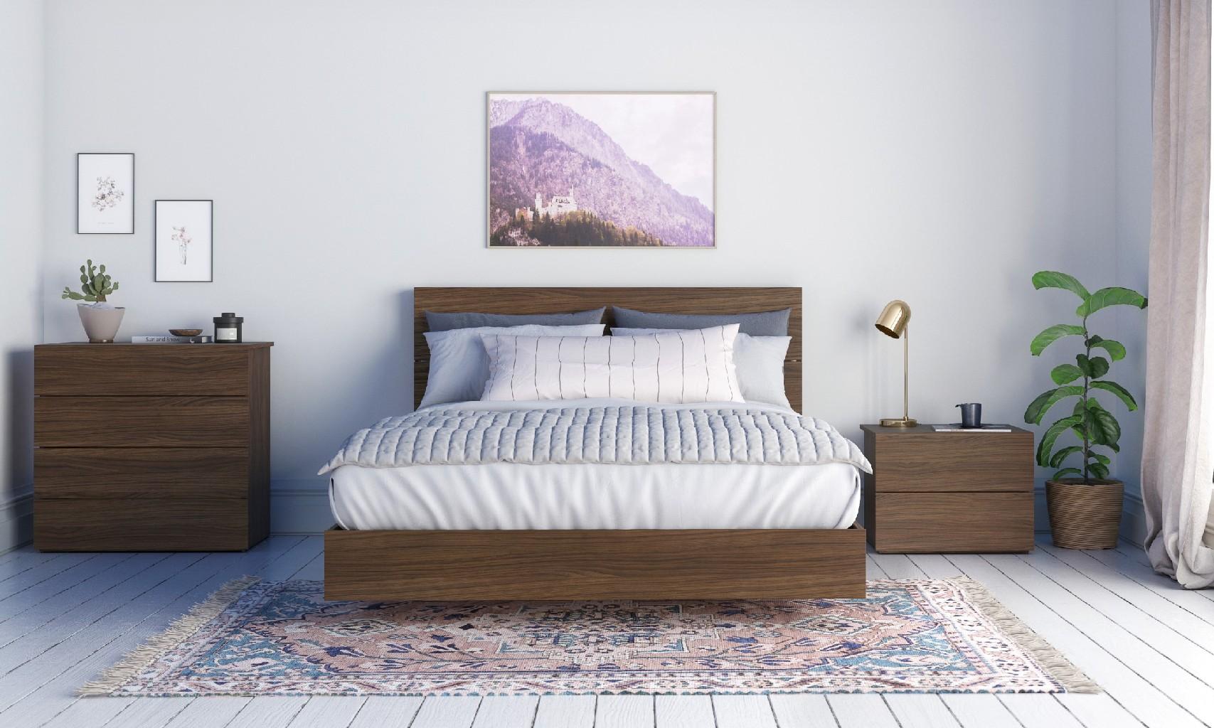 Nexera Queen Bedroom Set Walnut