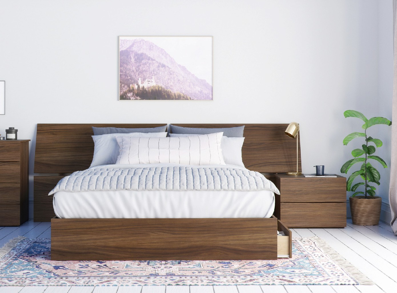 Nexera Queen Bedroom Set Walnut