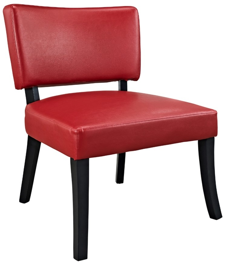 Leather | Accent | Chair | Faux | Red