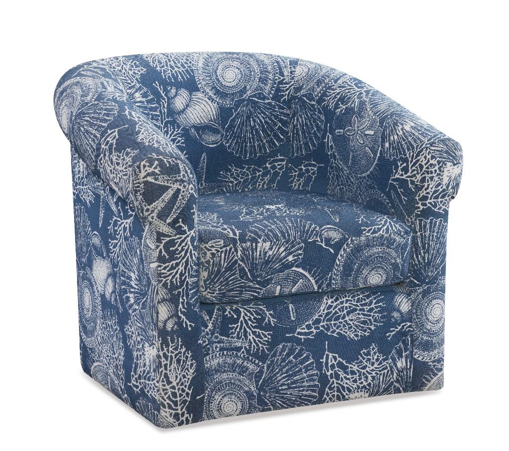 Bonnie Swivel Club Chair in Coastal - Powell D1209S19