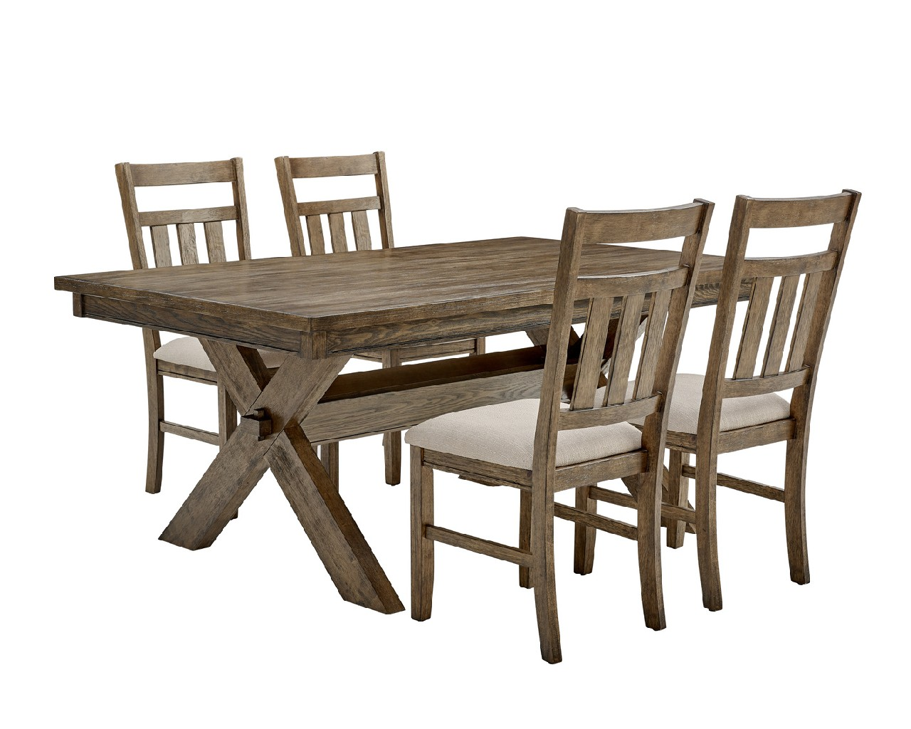 Powell Rustic Umber Dining Set