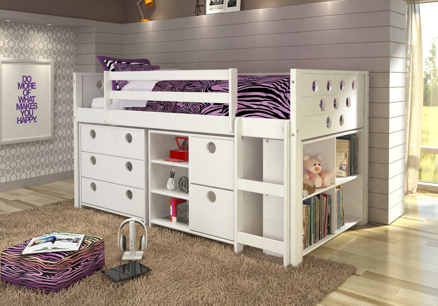 Donco Kids Twin Circles Low Loft