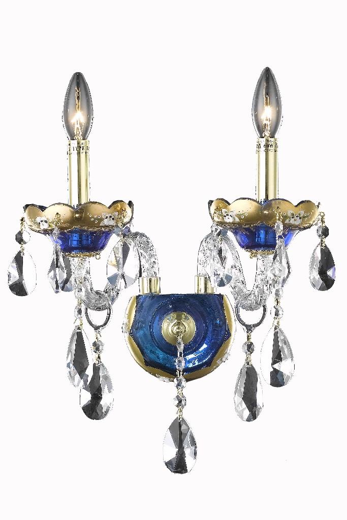 Elegant Lighting Light Blue Wall Sconce Clear Elements Crystal