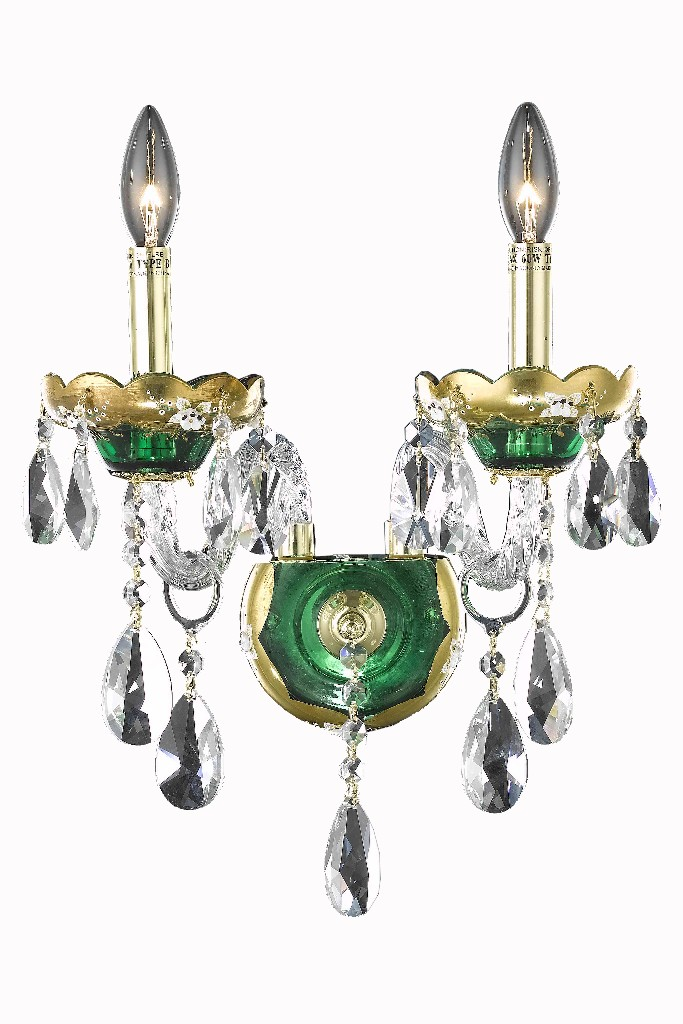 Elegant Lighting Light Green Wall Sconce Clear Elements Crystal