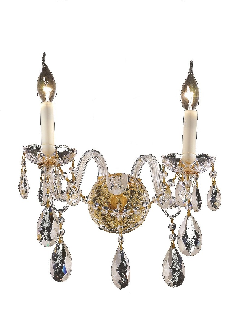 Elegant Lighting Light Gold Wall Sconce Clear Elements Crystal