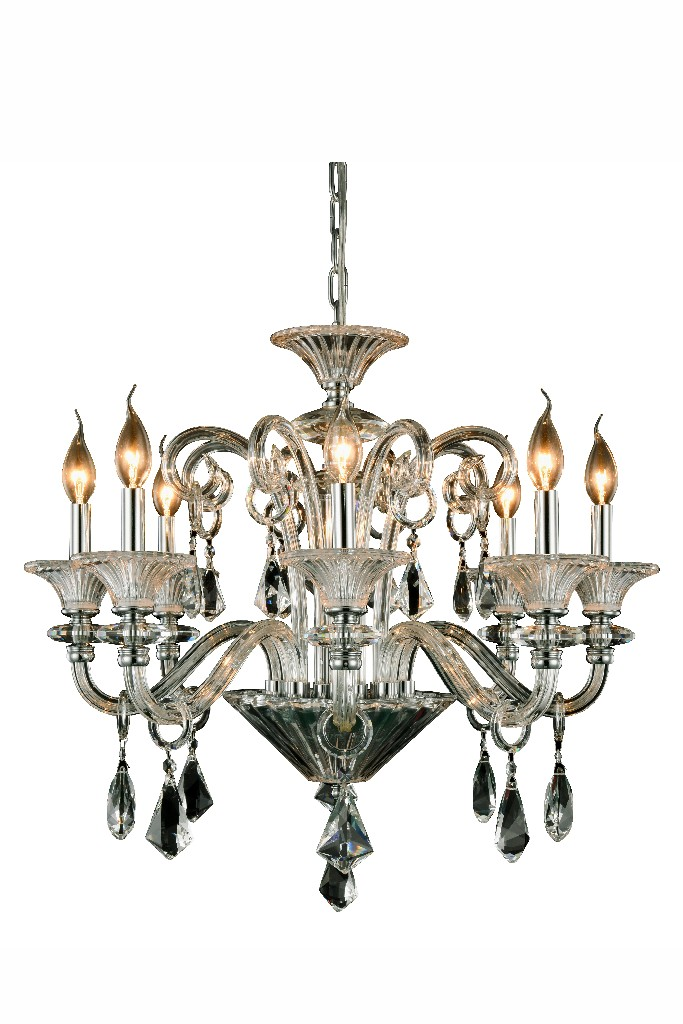 Lighting Chrome Chandelier Light Cut