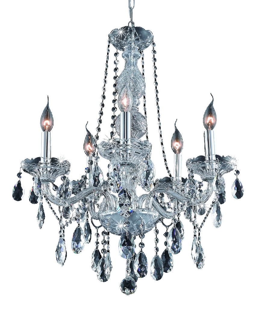 Elegant Lighting Light Chrome Chandelier Clear Spectra Swarovski Crystal