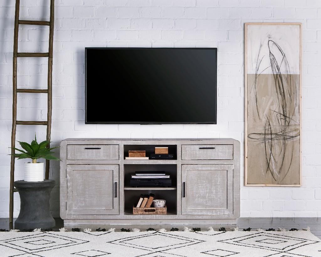 """Allure 64"""" Console in Gray Chalk - Progressive Furniture E766-64"""