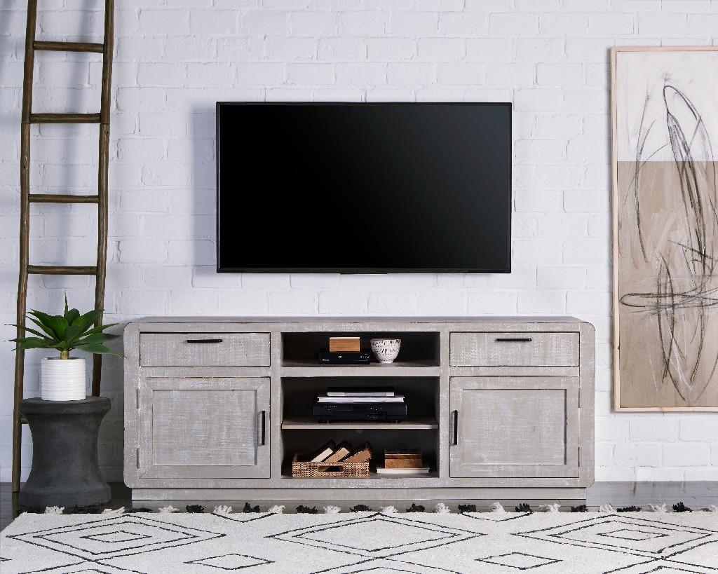 """Allure 74"""" Console in Gray Chalk - Progressive Furniture E766-74"""